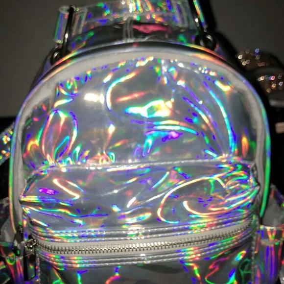 Handbags - mini reflective backpack